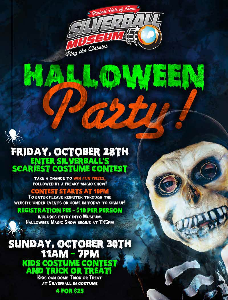 silverball halloween party - silverball museum - delray beach