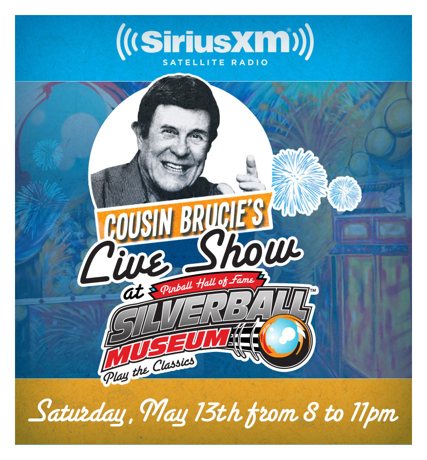 Cousin Brucie Live Sirius XM Show at Silverball Museum - Silverball