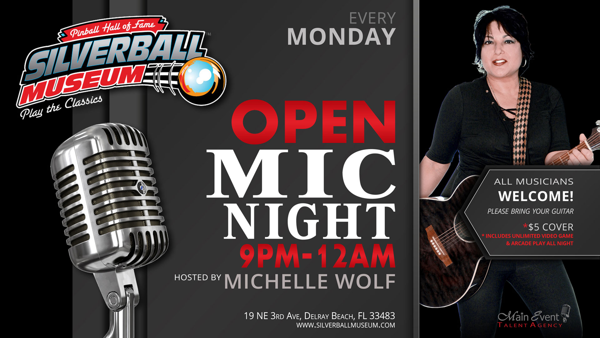 Silverball Open Mic Night