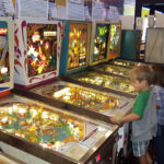 Playing Pinball at Silverball Museum Delray Beach FL